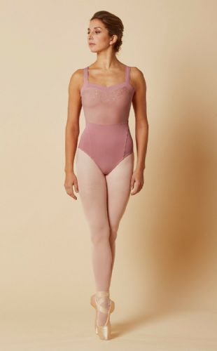Mirella by Bloch Ladies Dance Sweetheart Embroidered Mesh Leotard M4037 Rose